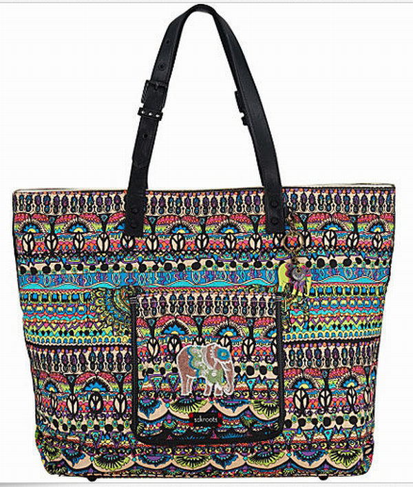 Sakroots Artist Circle XL Travel Bag Tote Radiant One World