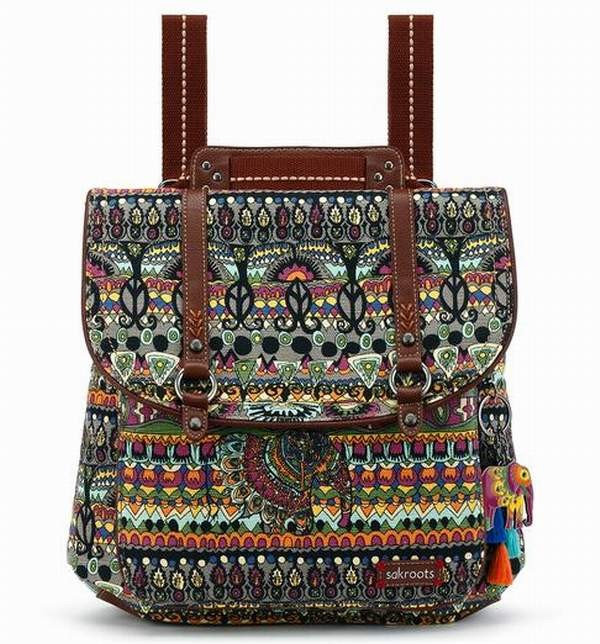 Sakroots Artist Circle Convertible Backpack 3 Ways Charcoal One World
