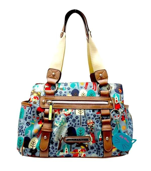 Lily Bloom Landon Triple Section Satchel Who Let The Dogs Out