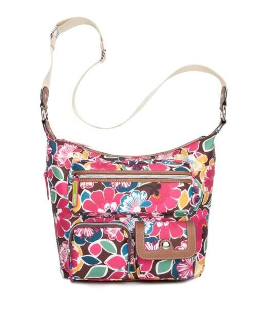 Lily Bloom Nina Messenger Bag Floral Firework