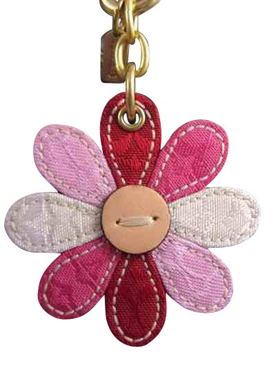 Coach 92421 Signature C Flower Handbag Key Chain Charm Rare