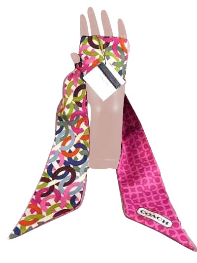 Coach 83054 Chainlink Ponytail Scarf Multi Color