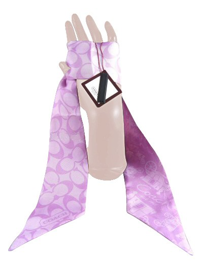 Coach 98599 Signature Heritage Ponytail Scarf Lilac