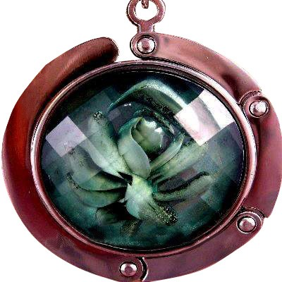 Rose Handbag Holder Purse Hook With Clasp Emerald
