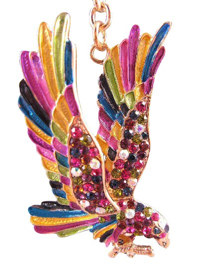 Eagle Austrian Crystals Handbag Charm Keychain Pendant Multi Color