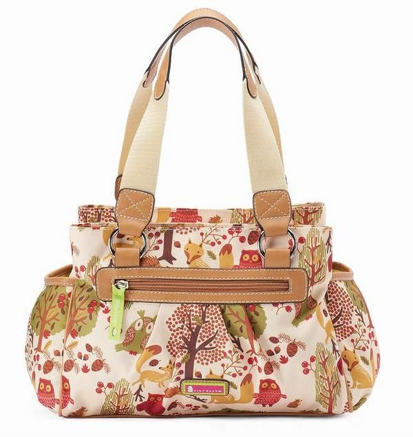Lily Bloom Triple Section Satchel Forest Owl