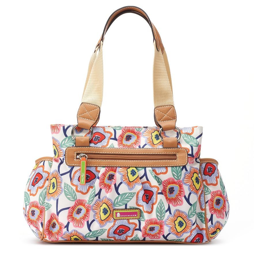 Lily Bloom Triple Section Satchel Retro Blooms