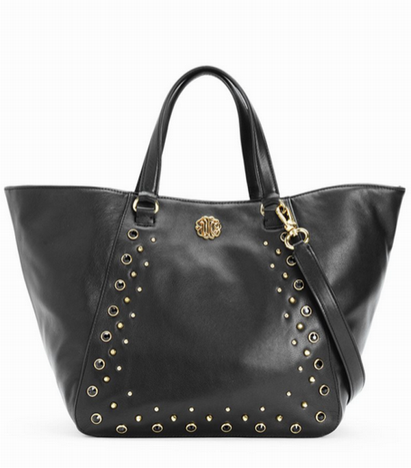 Juicy Couture Hollywood Leather Tote Black YHRU5021
