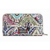 Sakroots Artist Circle Zip Around Large Wallet Slate Brave Beauti