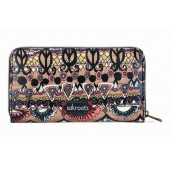 Sakroots Artist Circle Zip Around Large Wallet Taupe One World