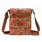 Sakroots Small Flap Crossbody Bag Coral Treehouse
