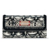 Sakroots Artist Circle Trifold Wallet Black White One World