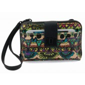 Sakroots Smartphone Wristlet Wallet Crossbody Radiant One World