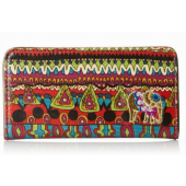 Sakroots Artist Circle Slim Wallet Cherry One World