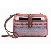 The Sak Smartphone Wristlet Wallet Crossbody Guava Patch