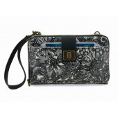 Sakroots Smartphone Large Wristlet Wallet Crossbody Black White Spirit Des
