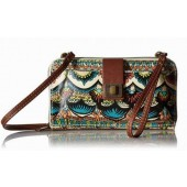 Sakroots Smartphone Large Wristlet Wallet Crossbody Natural One World