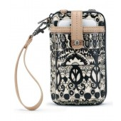 Sakroots Smartphone Wristlet Wallet Crossbody Black White One World