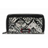 Sakroots Artist Circle Double Zip Wallet Jet Brave Beauti