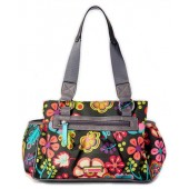 Lily Bloom Landon Triple Section Satchel Folky Floral