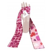 Coach 97180 Classic Pink Heart Ponytail Scarf
