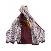 Coach 98296 Heritage Square Scarf Brown