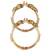 Peacock Passion Peacock Bracelets Set of 2 Multi Gold
