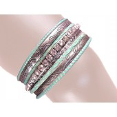 Shelby Stacked Bangle Bracelets Turquois Antique Silver