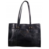 Prada Leather Tote BR3183 Black