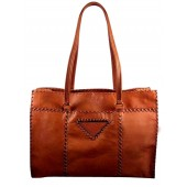 Prada Leather Tote BR3183 Tan