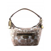 Coach 13291 Penelope Shantung Signature Hobo Pale Gold