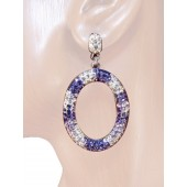 Irresistibly 2.00 inch Swaroski Crystal Drop Earrings Multi Silver