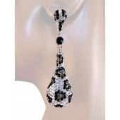 Drop Dead Gorgeous 2 .5 inch Crystal Drop Earrings Leopard Silver