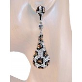 Drop Dead Gorgeous 2.5 inch Crystal Drop Earrings Leopard Topaz