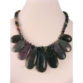 Indian Agate Semi Precious Gemstone Necklace