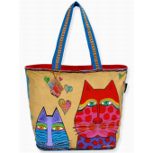 Laurel Burch Tan Large Kindred Spirits Tote
