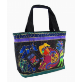 Laurel Burch Black Dogs and Doggies Small Tote
