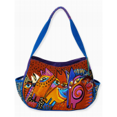 Laurel Burch Red & Blue Laughing Mares Hobo