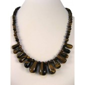 Tiger Eye Semi Precious Gemstone Necklace