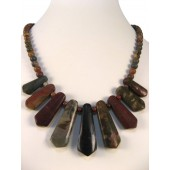 Picasso Jasper Semi Precious Gemstone Necklace