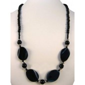 Onyx Semi Precious Gemstone Necklace
