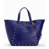 Juicy Couture Hollywood Leather Tote Cobalt YHRU5021